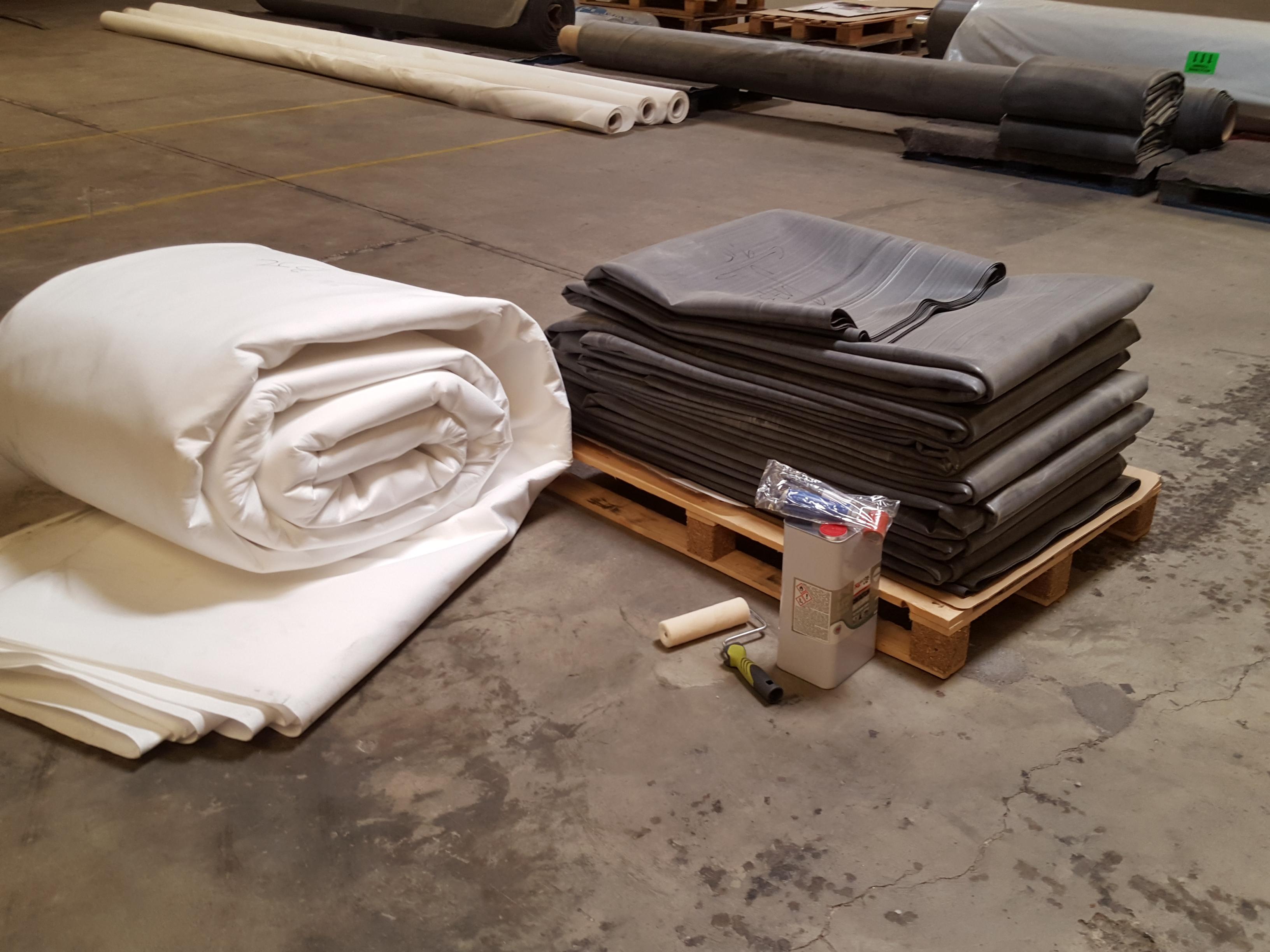 feutre g otextile 500gr m2 pour pose de b ches epdm. Black Bedroom Furniture Sets. Home Design Ideas